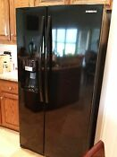 Samsung Rs267tdbp 25 5 Cu Ft Side By Side Refrigerator Local Pickup Only