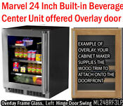 Marvel Ml24brf3lp 24 Inch Builtin Beverage Center With 2 Glass Shelves Blue Led