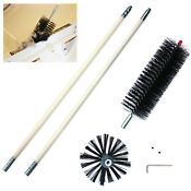 Dryer Duct Cleaning Kit Clear Clean Cleaner Remover Vent Lint Brush