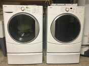 Kenmore He Electric Washer And Gas Dryer Set Used Dryer Has Drying Rack