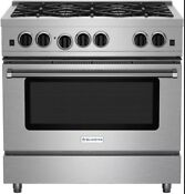 Bluestar Rcs366bv2 36 Stainless Steel Natural Gas Range Open Burner
