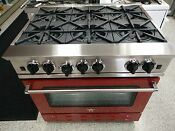 Bluestar Rnb366bv2 36 Stainless Steel Gas Range Signal Red