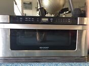 Sharp 30 Insight Pro Microwave Oven Built In Drawer Style Used Condition
