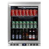 24 Undercounter Heating Glass Door Refrigerator With Stainless Exterior And Int