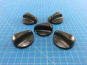 Genuine Ge Electric Oven Surface Burner Knob Wb03t10072 Wb03t10071 Set Of 5