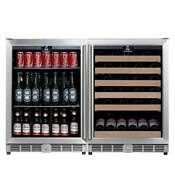 Under Counter Beverage And Wine Cooler Combo
