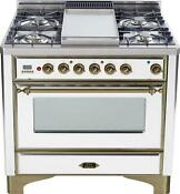 Ilve Um90fdmpby Majestic Series 36 Dual Fuel Range Convection Oven Oil Bronze