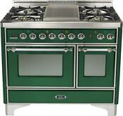 Ilve Umd100fdmpvsx 40 Majestic Dual Fuel Gas Range Double Oven Warming Drawer