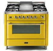 Ilve Umt90fdmpr1018 Majestic Techno 36 Dual Fuel Gas Range Single Oven