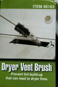 Clothes Dryer Lint Vent Trap Cleaner Brush Gas Electric Fire Prevention
