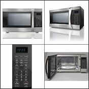 1 5 Cu Ft 1200 Watts Certified Stainless Steel Convection Countertop Microwave