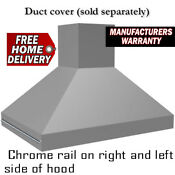 Vent A Hood Epih18248 Ss Stainless Island Ventilation Hood 48 Inches 550cfm Rail