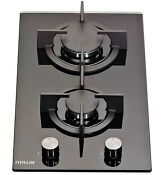 Millar Gh3020pb 30cm Built In 2 Burner Domino Gas On Glass Hob With Ffd