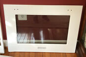 Kitchenaid White 30 Double Convect Wall Oven Bottom Main Outer Door Glass Panel