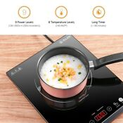 1800w Portable Electric Induction Countertop Burner Cooker With Kids Safety Lock