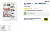 White General Electric Upright Freezer 13 7 Cu Ft With Exterior Temp Control