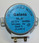 Galanz Microwave Turntable Synchronous Motor Sm 16t 21volt 50hz 3w 5 6 R Min