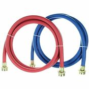 Rubber Washing Machine Hoses 6 Foot Long 2 Pack Color Coded Kelaro