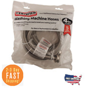 1 22m Replacement Braided Stainless Steel Washing Machine Connector Hoses Pair