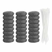 24 Pieces Lint Traps Washing Machine Laundry Sink Drain Hose Screen Filter