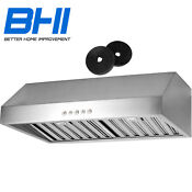 Ductless Convertible 30 Kitchen Range Hood Cfm500 Stainless Steel 3 Speed Led