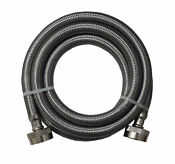 4 Foot Stainless Steel Hose For Washing Machine Incl Washers Bracket Leads