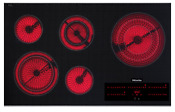 Km5860 208 Miele Ceran Glass 36 5 Element Electric Cooktop New