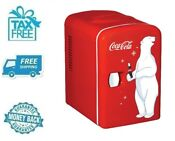 New Coca Cola 6 Can Portable Mini Fridge Refrigerator Small Soft Beverage Cooler