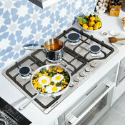 Metawell 30 Stainless Steel 5 Burner Built In Stoves Natural Gas Hob Cooktops