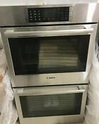 Bosch Benchmark Hblp651uc 30 Stainless Steel Double Convection Wall Oven New