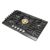 Modern 30 Black Titanium 5 Burners Gold Built In Stoves Ng Lpg Cooktops