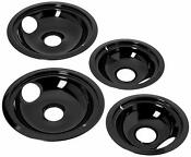 Top 4 Ge Hotpoint Porcelain Stove Drip Pans Electric Range Black Reflector Bowls