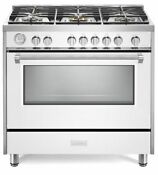 Verona Designer Series Vdfsgg365w 36 All Gas Range Convection Oven White