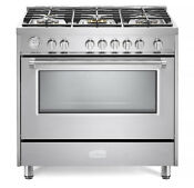 Verona Designer Series Vdfsgg365ss 36 All Gas Range Oven Stainless Steel