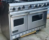 Viking 48 Pro Range Stove Vgsc4876gss Gas 6 Burners Griddle Stainless