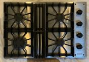 Viking Gas Cooktop 30 Stainless Steel Black 4 Burner Model Vgsu101 4bss
