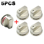 5pcs Stainless Gas Stove Burner Knobs Fits Lg Range Ebz37189611 Ebz37189609 Fast