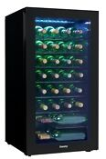 36 Bottle Wine Chiller Cooler Refrigerator Freestanding Fridge Dining Bar Led