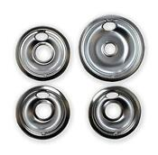 Chrome Drip Pans Replacement For Range Kleen 10124xz Whirlpool W10196405