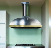 Vent A Hood 30 Stainless Steel With Copper Lip Wall Mount Range Hood Brand New