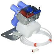 Refrigerator Water Valve Kit Dual Solenoid Icemaker Amana Kenmore Ge Wr57x10051