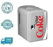 New Diet Coke Portable Mini Fridge Refrigerator Small Soft Drink Beverage Cooler
