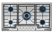 Empava 36 Inch Gas Stove Cooktop 5 Italy Sabaf Burners Stainless Steel 36gc881