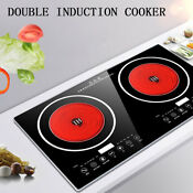 Electric 2400w Dual Induction Cooker Cooktop Touch Countertop Double Burner 2019