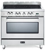 Verona Vefsee365ss 36 Electric Range 5 Elements Convection Oven Stainless Steel
