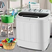 Super Deal Portable Compact Mini Twin Tub Washing Machine W Wash And Spin Cyc