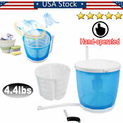 4 4lbs Portable Hand Operated Mini Washing Machine Compact Outdoor Spin Dryer Us