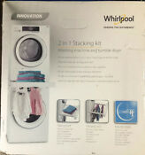 Whirlpool Sks200stacking Kit For Washer Dryer With Shelf Hanging Rack Niob