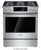 Bosch Hgi8054uc 30 Slide In Stainless Steel Convection Gas Range New In The Box