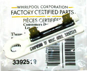 Whirlpool Wp3392519 3392519 Dryer Thermal Fuse